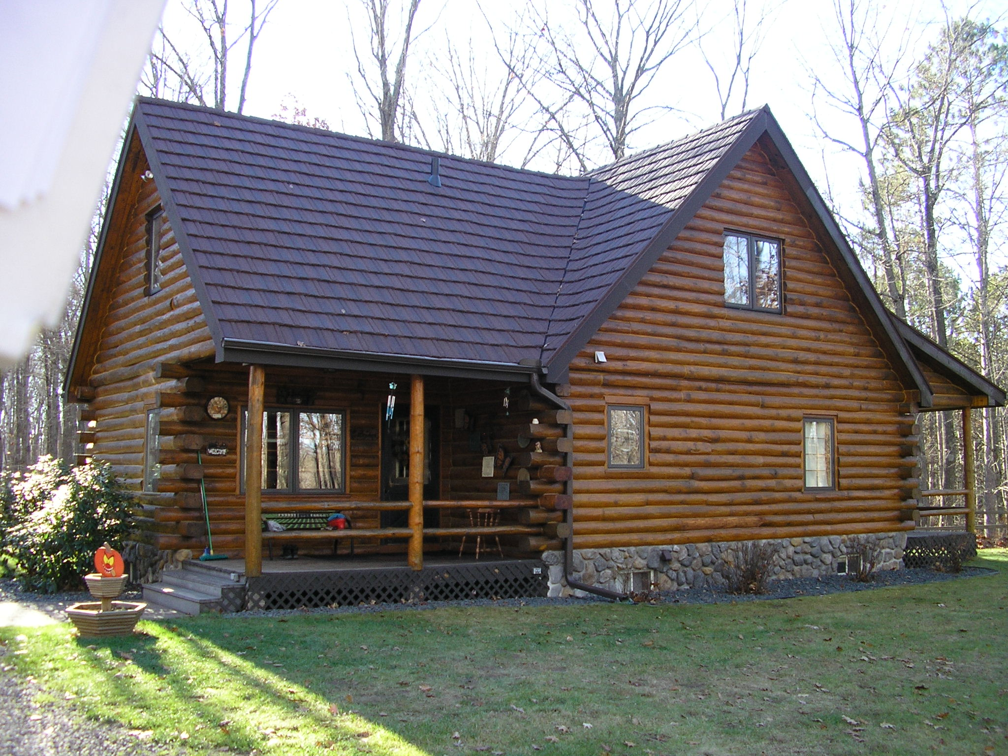 Log Home Before And Afteru2026 Posted By Derrick Hansen In Roofing News