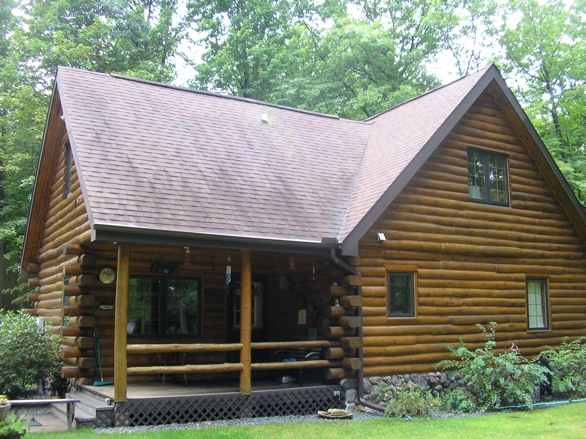 Log Home Before And After Bjorkstrand Metal Roofing