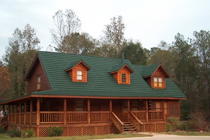 Roof Color On Log Homes Bjorkstrand Metal Roofing